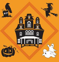 halloween seamless pattern 2 vector image