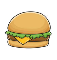 Hamburger sandwich design icon vector