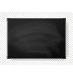 horizontal black chalkboard with border vector image