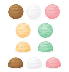 ice cream balls 01 vector image