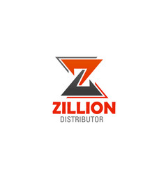Icon of letter z for company or brand vector