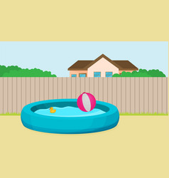 inflatable pool flat design vector image