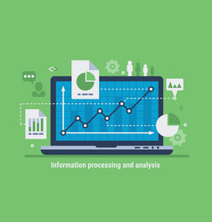 information processing and analysis vector image
