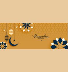 Islamic style ramadan kareem and eid decorative vector