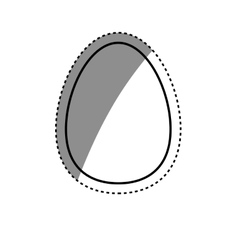 Isolated chicken egg vector