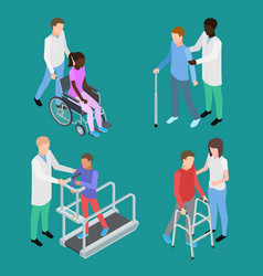 Isometric physiotherapy and medical rehabilitation vector