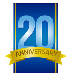 Label for 20th anniversary vector