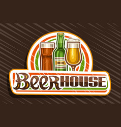 Logo for beer house vector