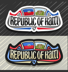 Logo for republic of haiti vector