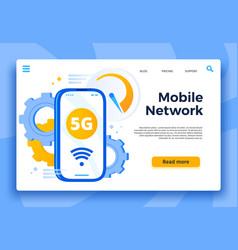 Mobile 5g network landing page communication vector