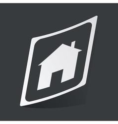 Monochrome house plate sticker vector