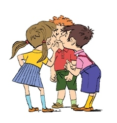 Mystery a group of children whispering vector