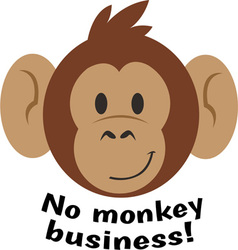 No Monkey Business vector
