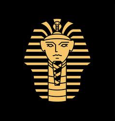 Pharaoh logo artwork line gold black vector