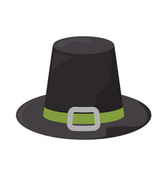 Pilgrim hat thanksgiving symbol on white vector