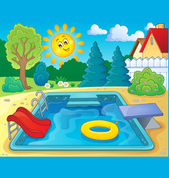 Pool theme image 2 vector