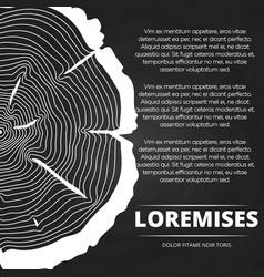 Poster with tree rings design vector