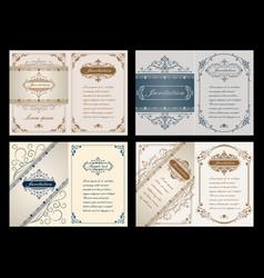 premium invitation or wedding card vector image