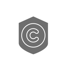 protection copyright authors mark grey vector image