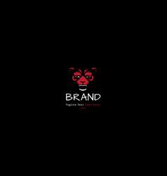 Rage beast animal red logo image vector