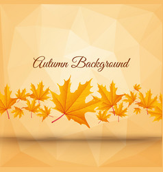 realistic abstract autumn poster vector image