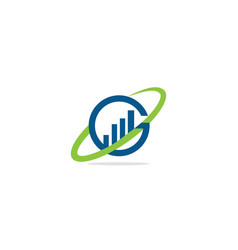 round orbit business logo vector image