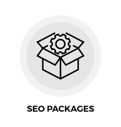 SEO Packages Line Icon vector image