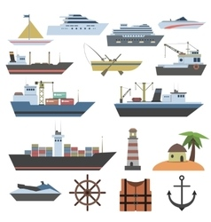 Ship Flat Icon vector