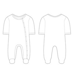 sleepwear for baby boys and girls technical vector image