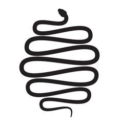 Snake icon long cobra python creeping vector
