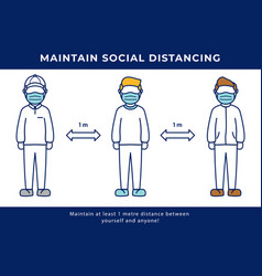 social distancing keep distance concept for fight vector image
