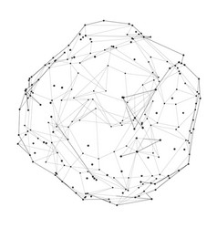 Sphere with points and lines vector