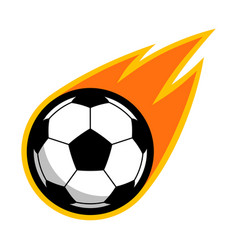 Sport ball fire soccer vector