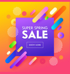 spring sale poster colorful design background vector image