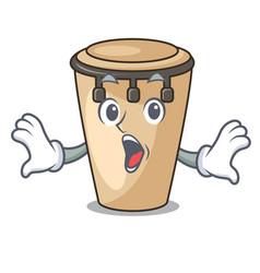 Surprised conga mascot cartoon style vector