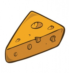 Swiss cheese wedge vector