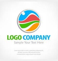 travel logo color vector image