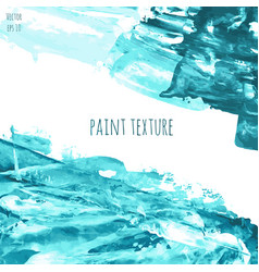 turquoise blue oil painted texture vector image