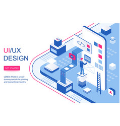 ui ux design infographic concept mobile app vector image