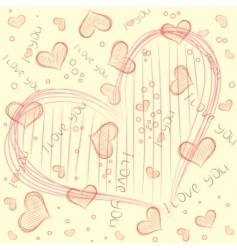 vector pattern with heart vector image