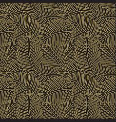 vintage tropic pattern design vector image