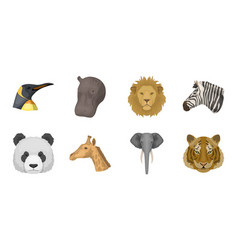 wild animal icons in set collection for design vector image