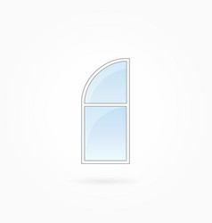 Window frame with rounded valve eps 10 vector