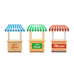 wood fair stands vector image