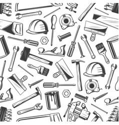 Work tool seamless pattern of repair equipment vector