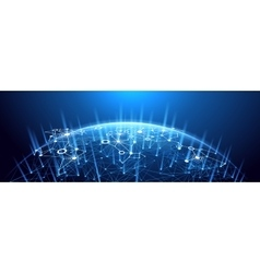 Global network background vector image