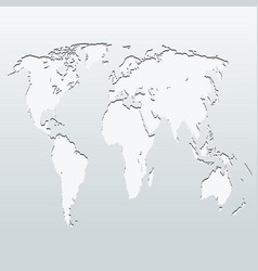 world map on a gray background vector image vector image