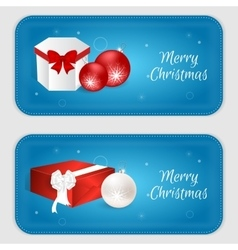 Christmas vertical banner in blue with snowflakes vector image