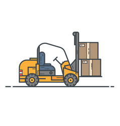 counter-balanced forklift truck vector image vector image