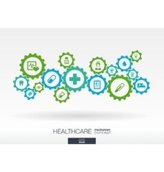 Healthcare mechanism concept Abstract background vector image vector image